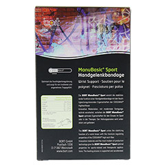 BORT ManuBasic Sport Bandage re.medium schw/gr�n 1 St�ck - R�ckseite