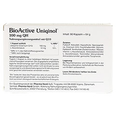 BIOACTIVE Uniqinol 100 mg QH Pharma Nord Kapseln 90 St�ck - R�ckseite
