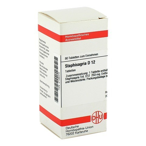 STAPHISAGRIA D 12 Tabletten 80 Stück N1