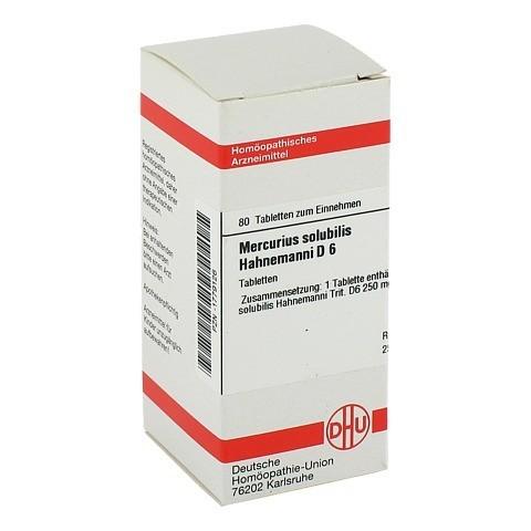 MERCURIUS SOLUBILIS D 6 Tabletten Hahnemanni 80 Stück N1