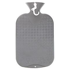 FASHY Wärmflasche glatt anthrazit 1 Stück - Rückseite