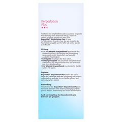 BEPANTHOL Körperlotion Plus 200 Milliliter - Rückseite