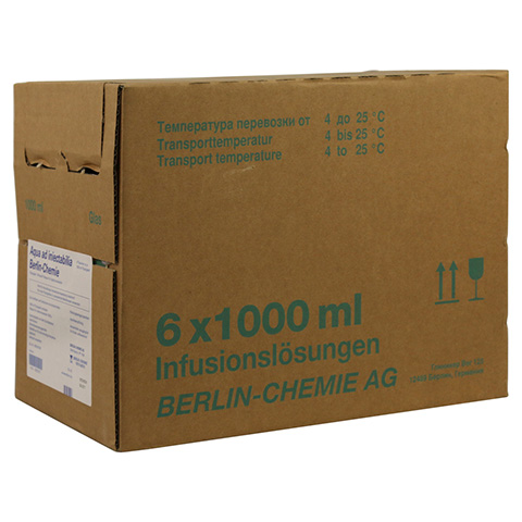 AQUA AD iniectabilia Berlin Chemie Infusionslsg. 6x1000 Milliliter