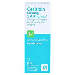 Cetirizin Lösung-1A Pharma 10 Milliliter N1 - Vorderseite