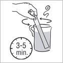 Mesh Stick schwarzer Tee Ziehzeit