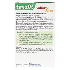 TAXOFIT Calcium Sonne Tabletten 30 Stück - Rückseite