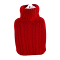 W�rmflasche - roter Strickbezug, 1,8 L