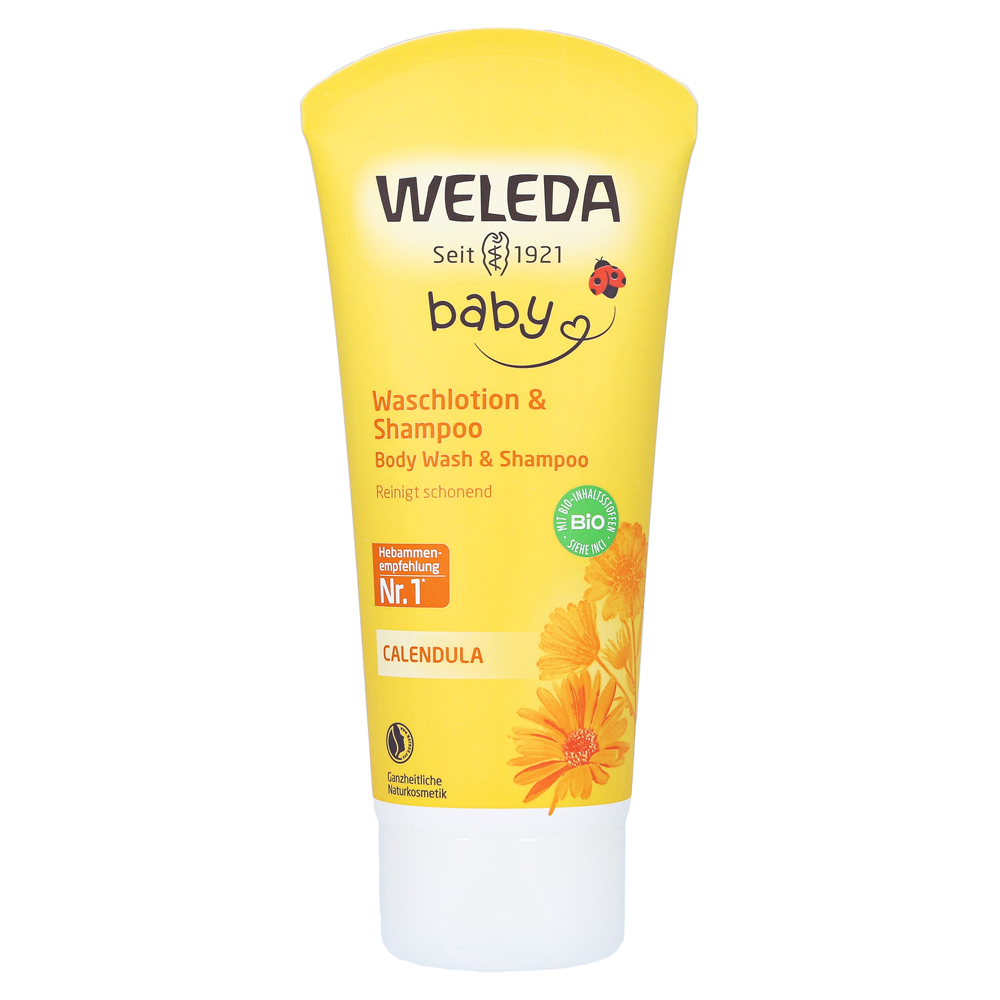 erfahrungen zu weleda calendula waschlotion shampoo 200 milliliter medpex versandapotheke. Black Bedroom Furniture Sets. Home Design Ideas