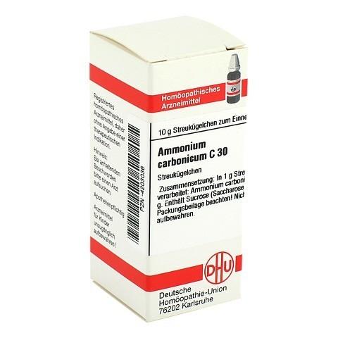 AMMONIUM CARBONICUM C 30 Globuli 10 Gramm N1
