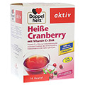 DOPPELHERZ heiße Cranberry m.Vit.C+Zink Granulat 10 Stück
