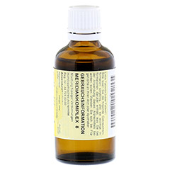 MERIDIANKOMPLEX 8 Tropfen zum Einnehmen 50 Milliliter N1 - R�ckseite