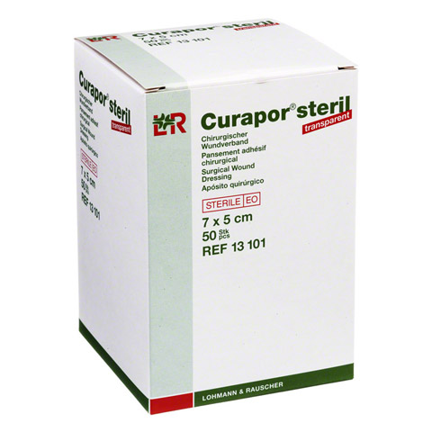 CURAPOR Wundverband steril transparent 5x7 cm 50 Stück