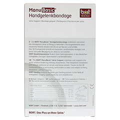 BORT ManuBasic Bandage rechts medium schwarz 1 Stück - Rückseite