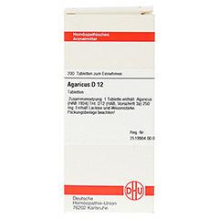 AGARICUS D 12 Tabletten 200 Stück N2 - Vorderseite