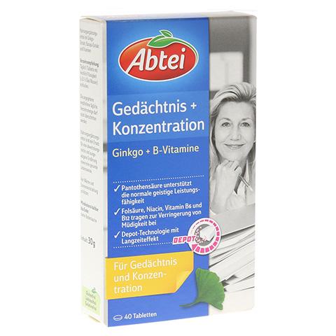 ABTEI Gedächtnis + Konzentration (Ginkgo + B-Vitamine) 40 Stück