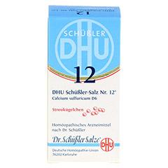 BIOCHEMIE DHU 12 Calcium sulfuricum D 6 Globuli 10 Gramm N1 - Vorderseite