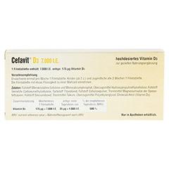 CEFAVIT D3 7.000 I.E. Filmtabletten 20 Stück - Rückseite