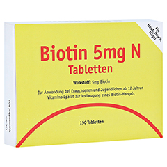 BIOTIN 5 mg N Tabletten 150 St�ck