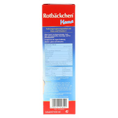 RABENHORST Rotbäckchen Mama Eisen+ Saft 450 Milliliter - Linke Seite