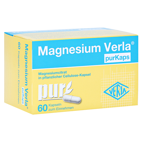 MAGNESIUM VERLA purKaps vegane Kapseln z.Einnehmen 60 Stück