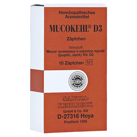 MUCOKEHL Suppositorien D 3 10 Stück N1