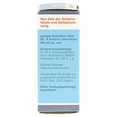 APOPET Schüßler-Salz Nr.4 Kalium chlor.D 6 vet. 12 Gramm - Rechte Seite