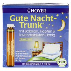 HOYER Gute Nacht Trunk Trinkampullen 10x10 Milliliter - Vorderseite