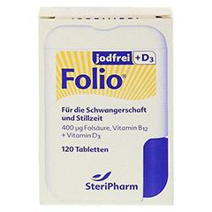 FOLIO jodfrei+D3 Filmtabletten 120 Stück - Vorderseite