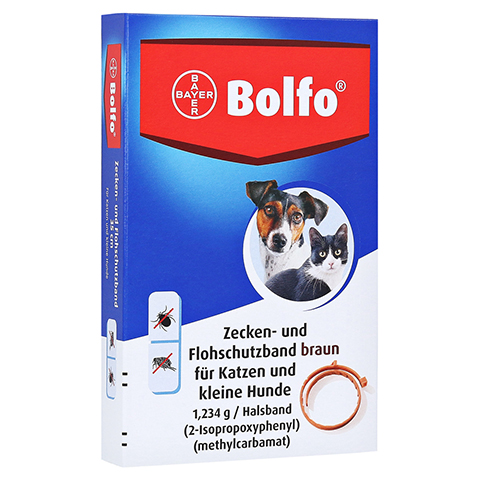 BOLFO Flohschutzband braun f.kleine Hunde/Katzen 1 St�ck