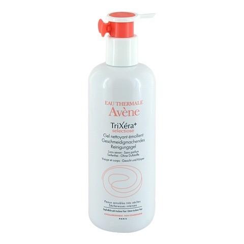 AVENE Trixera+ Reinigungsgel Pumpspender 400 Milliliter