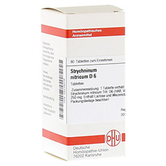 STRYCHNINUM NITRICUM D 6 Tabletten 80 Stück N1