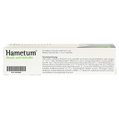 Hametum Wund- und Heilsalbe 200 Gramm - Unterseite