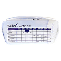 KOLIBRI comfort premium Einlagen anatomisch midi 28 St�ck - Oberseite