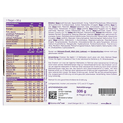 XLIM Aktiv Mahlzeit Riegel Schoko-Müsli 6x56 Gramm - Rückseite
