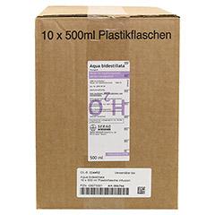 AQUA BIDEST Plastik 10x500 Milliliter N2 - Vorderseite