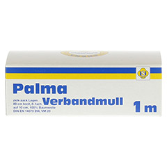 PALMA Verbandmull 80 cm 1 m zickzack Lagen 1 Stück - Rückseite