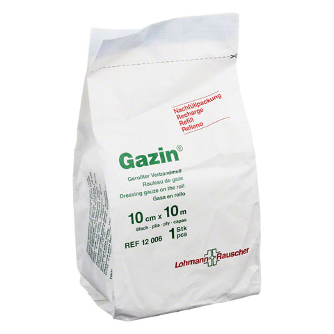 GAZIN Verbandmull 10 cmx10 m 8fach Nachf. 1 St�ck