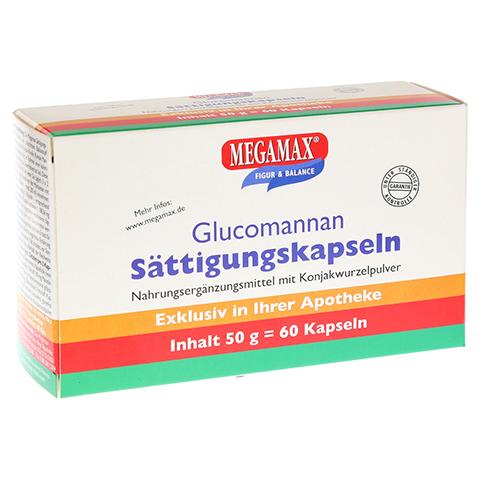 MEGAMAX Sättigungskapseln Glucomannan 60 Stück