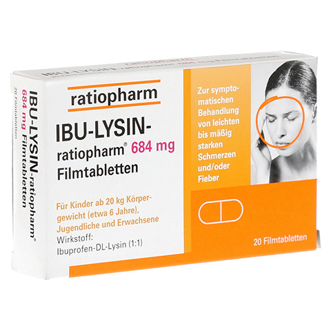 IBU-LYSIN-ratiopharm 684mg 20 Stück