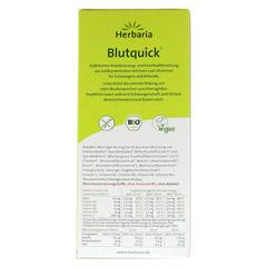 BLUT QUICK alkoholfrei Saft 250 Milliliter - Rückseite