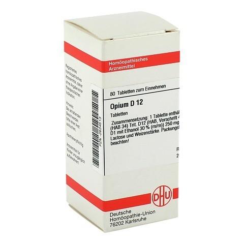OPIUM D 12 Tabletten 80 St�ck N1