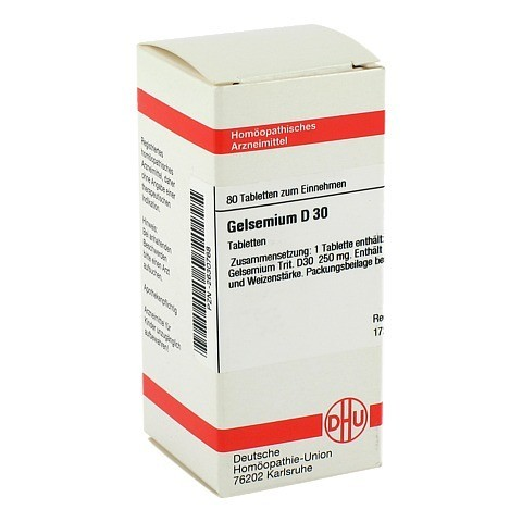 GELSEMIUM D 30 Tabletten 80 St�ck