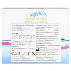 MOVICOL trinkfertig 25 ml Beutel Lsg.z.Einnehmen 30 Stück - Rückseite