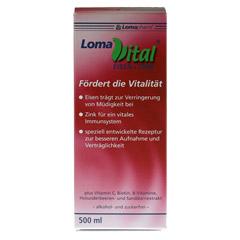 LOMAVITAL Eisen+Zink fl�ssig 500 Milliliter - Vorderseite