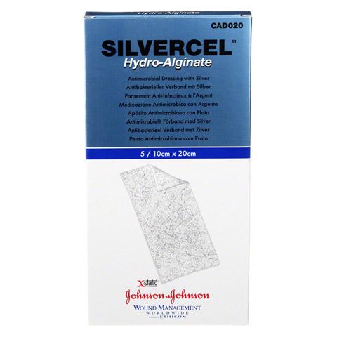 SILVERCEL Hydroalginat Verband 10x20 cm 5 Stück