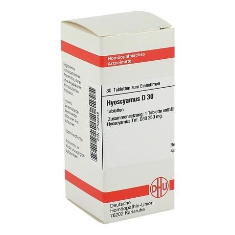 HYOSCYAMUS D 30 Tabletten 80 Stück