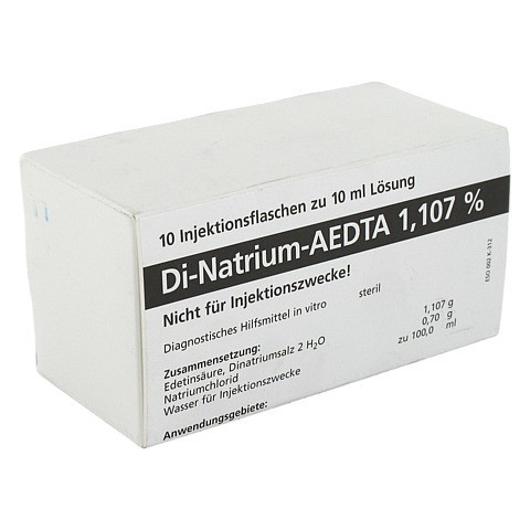 DI NATRIUM EDTA L�sung 1,107% 10x10 Milliliter