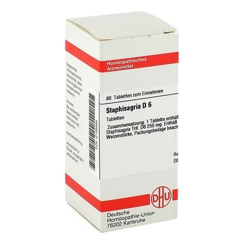 STAPHISAGRIA D 6 Tabletten 80 Stück N1