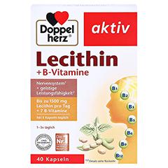 DOPPELHERZ Lecithin+B-Vitamine Kapseln 40 Stück - Vorderseite