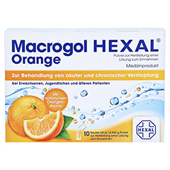 MACROGOL HEXAL Orange Plv.z.Her.e.Lsg.z.Einn.Btl. 10 Stück - Vorderseite